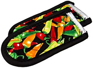 product image for Lodge Hot Handle Holders/Mitts, Multi-color Peppers, 2-Pack
