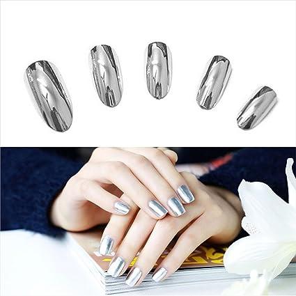 Esmalte de uñas de gel con efecto de espejo en polvo para mujer, de Clearance, Squarex: Amazon.es: Belleza