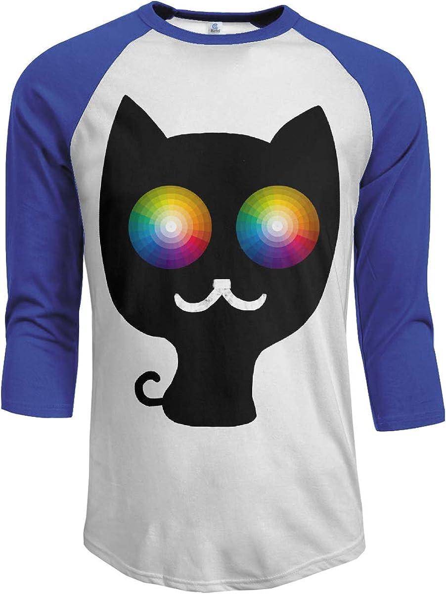 3//4 Long Sleeves Boys Jersey Tee Shirt Black MiiyarHome Mens Raglan Sleeves Baseball T-Shirts Do Cats Blink