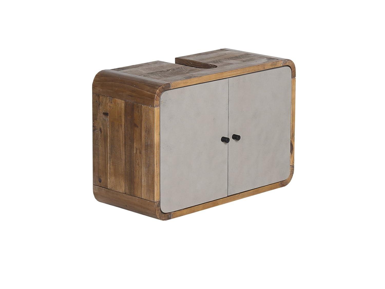 Woodkings Waschbeckenunterschrank Dingle Holz Pinie Rustikal Und