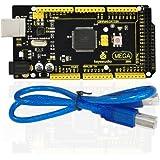 keyestudio Mega 2560R3Entwicklungs-Steuerplatine + USB-Kabel, kompatibel mit Arduino Mega 2560R3