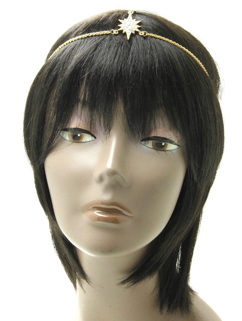 RI001 CRYSTAL STONE STARBURST HEAD CHAIN HAIR ACCESSORY