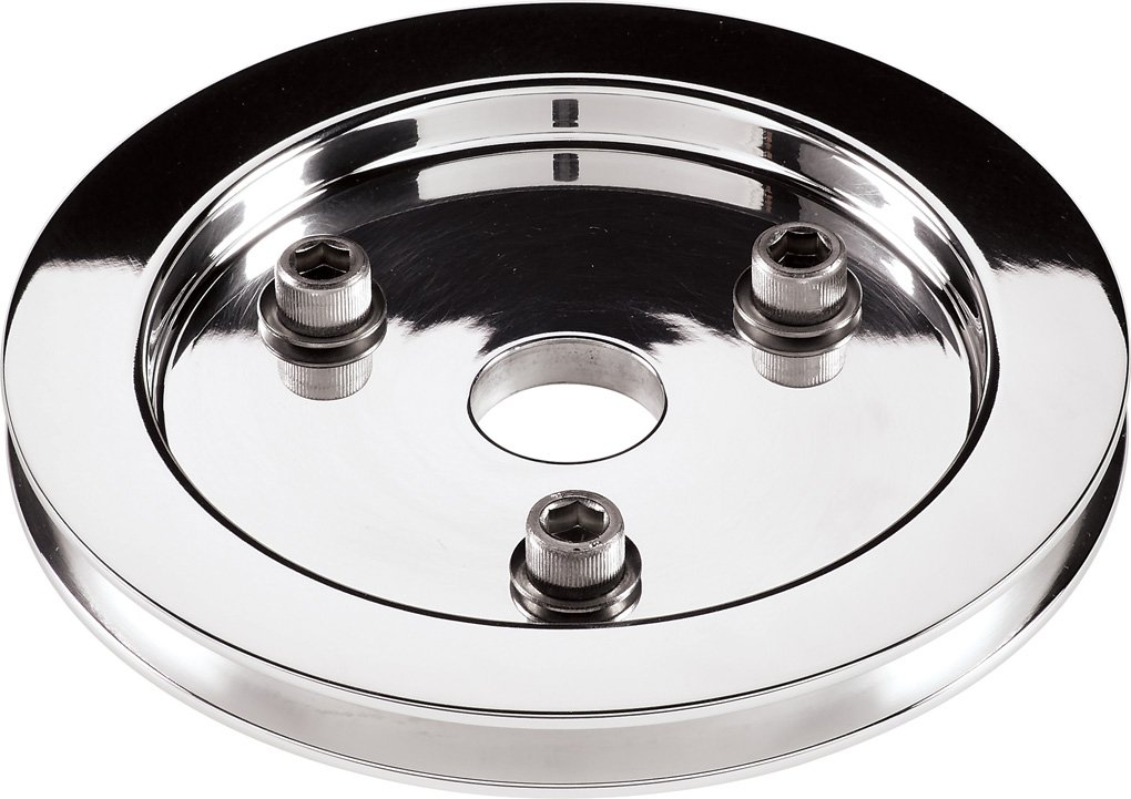 Billet Specialties 81120 Polished 1 Groove Water Pump Lower Pulley for Small Block Chevy