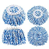 4Pack Replacement Mop Heads, Spin Magic Mop Head Microfiber Refill for Standard Universal Mop Head-Round Shape 360 Degree Rotating Mop System (with Diameter Between 6.0'' to 6.1'')