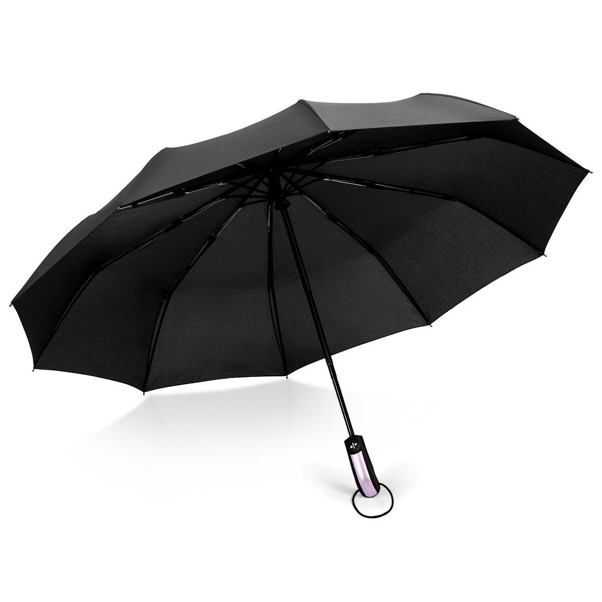 Paraguas Plegable, Proking Sombrilla a Prueba De Viento (60 MPH) Paraguas De Viaje Compacto Automático Paraguas Abierto,Azul Marino Compacto Resistente Al Viento Paraguas(azul marino)