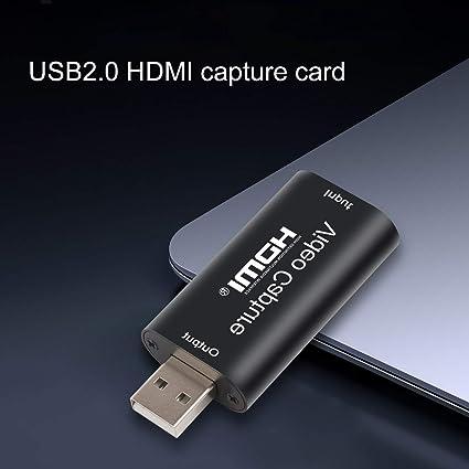 Soporte de reproducci/ón de video y fotos Tarjeta de captura HDMI Grabadora de tarjeta de captura de video de juegos HDMI 1080P Media Reproductor de Soporte de grabaci/ón de video y captura de fotos