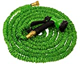 50ft Expandable Garden Hose Water Hose Solid Brass Ends 8 Position Spray Nozzle 3/4Inch Lightweight Expanding Flexible Gen8 Products