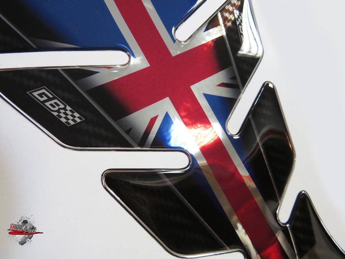 /Protezione serbatoio universale adatto per serbatoi del motociclo Paraserbatoio 3d 500701//_ AV Union Jack cromo/