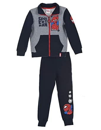 Spiderman - Chándal - para niño Gris/marine 6 años : Amazon.es ...