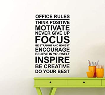 Amazon Com Office Rules Poster Work Motivation Quote Sign