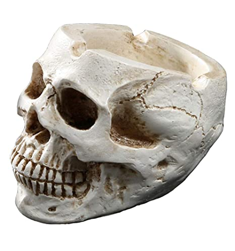 Amazon.com: Cenicero de calavera humana Gudesbly Resin para ...