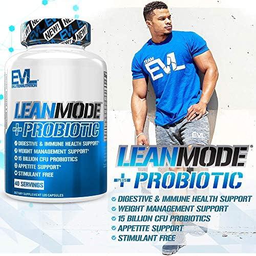 Evlution Nutrition Leanmode + Probiotic, Advanced Probiotic Capsule Supplement, 15 Billion CFUs per Serving, Digestive Support & Gut Health (40 Servings) 6