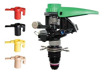 Rain Bird P5-R PLUS Plastic Impact Sprinkler with Nozzle Set, Adjustable 0°  - 360° Pattern, 25' - 45' Spray Distance