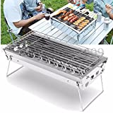 Stainless Steel Portable Outdoor Camping Tabletop Barbecue Grill BBQ Cooking