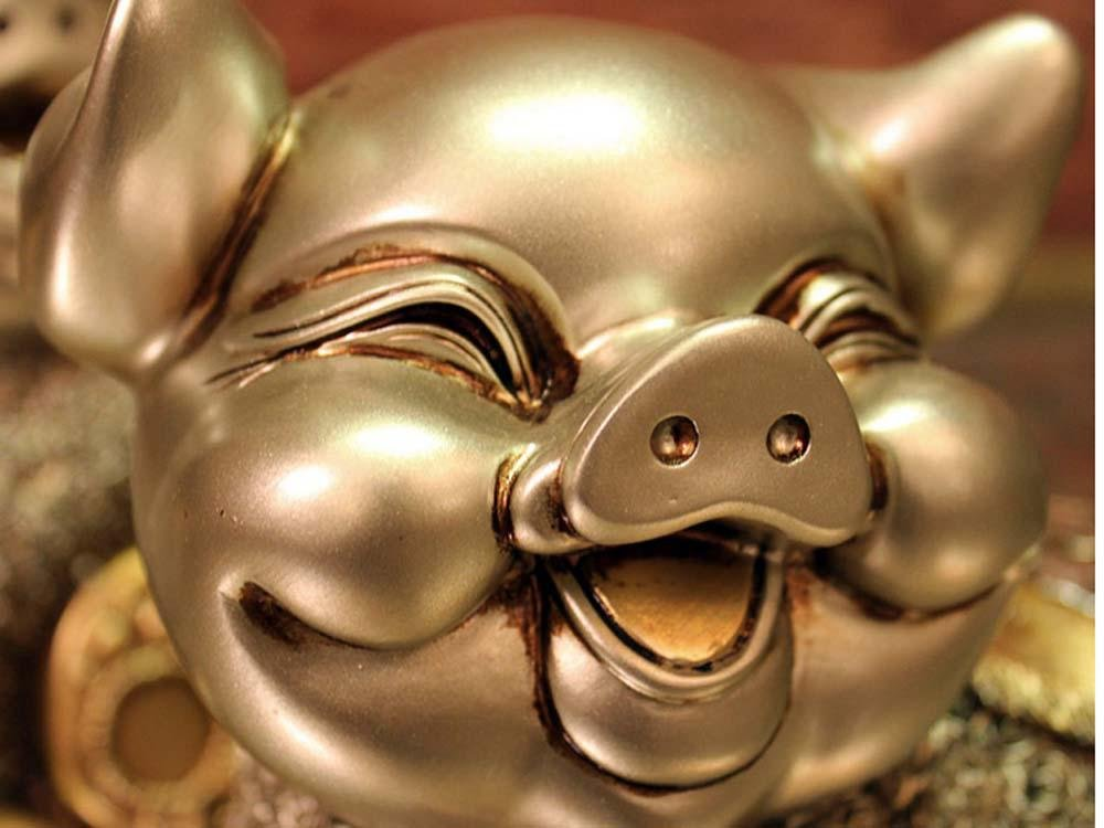 WWQY European wedding gift couple pig resin animal ornaments creative home decorations auspicious gifts 19 13 19/19 13 19 , 191319/191319 by WWQY home (Image #4)