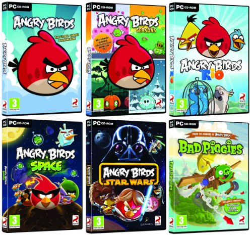 Angry Birds Ultimate Collection - Angry Birds / Seasons / Rio / Space / Star Wars / Bad Piggies (PC DVD) Windows XP/Vista/7 (Star Wars Pc Collection)