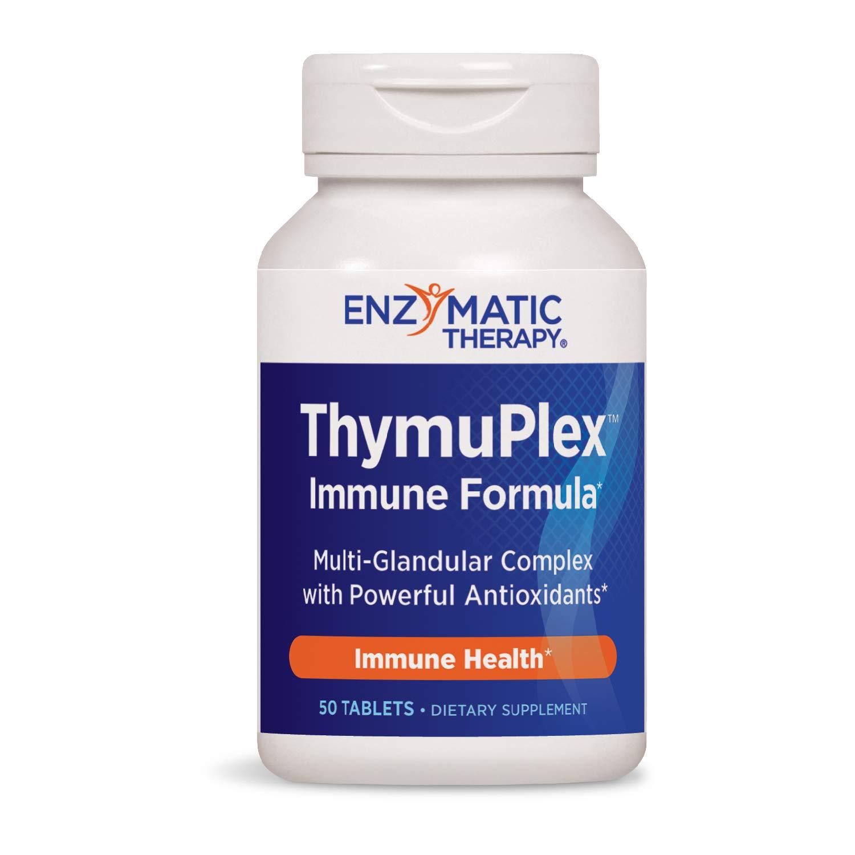 Enzymatic Therapy ThymuPlex Immune Formula Multi-Glandular Complex w/Powerful Antioxidants 50 Count (Packaging May Vary)