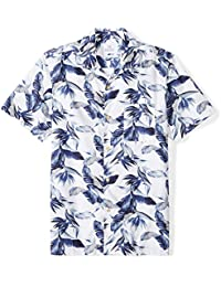 Men's Standard-Fit 100% Cotton Tropical Hawaiian Shirt
