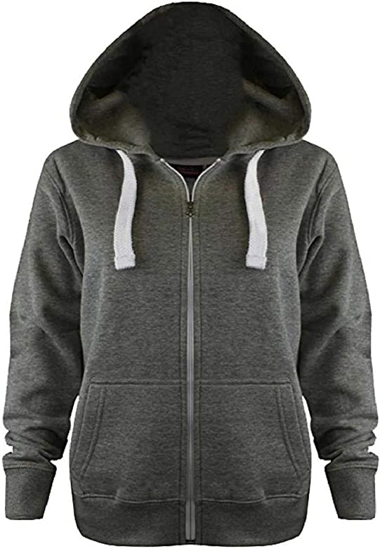 Sale Unisex Kids Boys Girls Zip Up Fleece Zipper Hoodie Top Size 3-13 Years