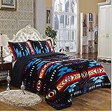 Southwest Design (Navajo Print) Queen Size 3pcs Set 15081 Black