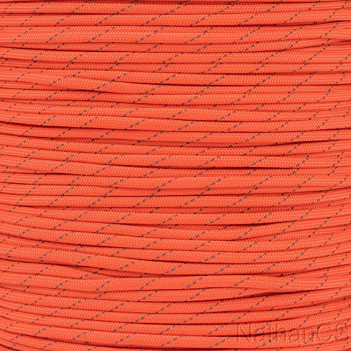 Paracord Planet Reflective Paracord Made of 100% Nylon With 7 Inner-core Strands Available In 10, 25, 50, and 100 Foot Lengths That is Made in the USA ()