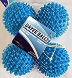 Black Duck Brand Dryer Balls 4 and 8 Packs of Blue- Reusable Dryer Balls Replace Laundry Drying Fabric Softener and Saves You Money