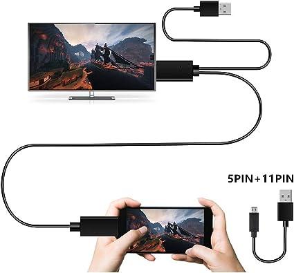 Cable micro USB a HDMI para TV, MHL a HDMI convertidor con salida ...