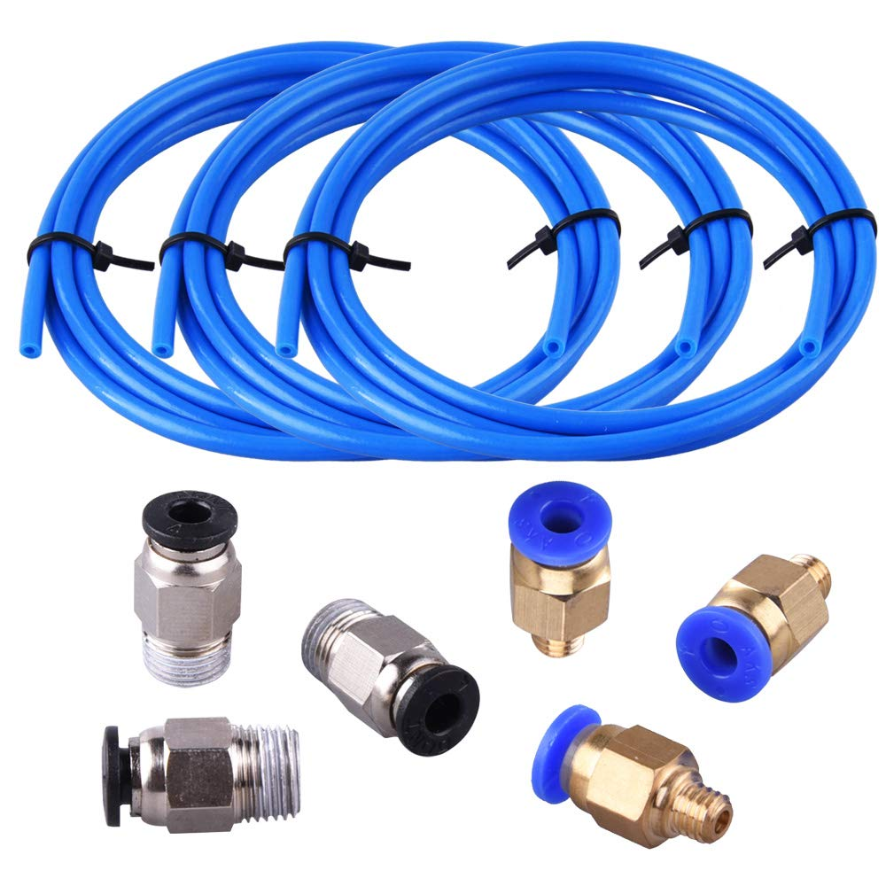 SIQUK 3 piezas (1,5 metros) PTFE Blue Tubing y PC4-M6 Fittings con ...