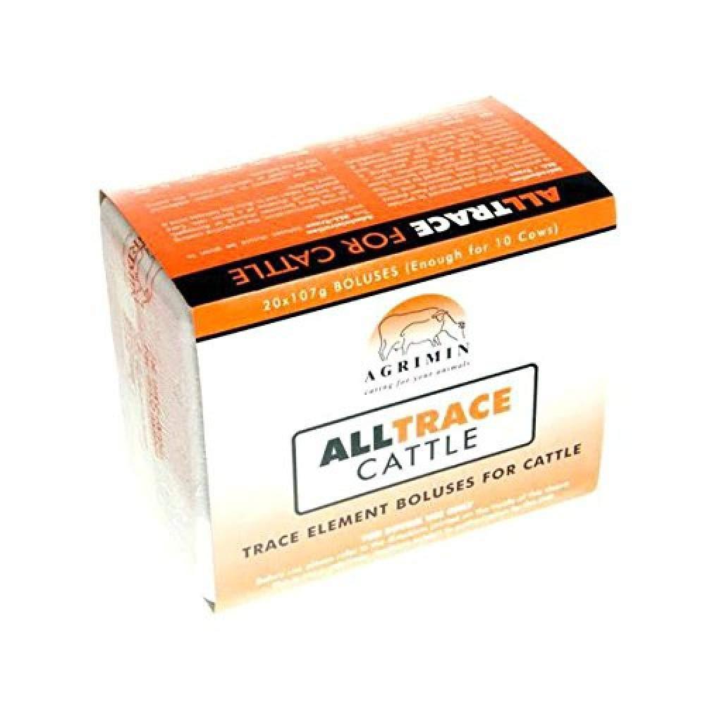 orange One SizeAgrimin ALLTRACE Cattle Boluses (Box Of 20)