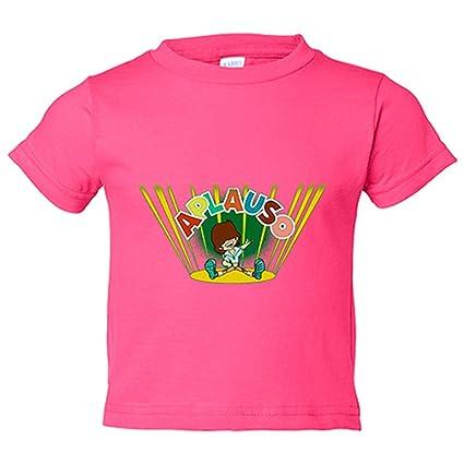 Camiseta niño Aplauso nostalgia ochentera EGB - Rosa, 7-8 años