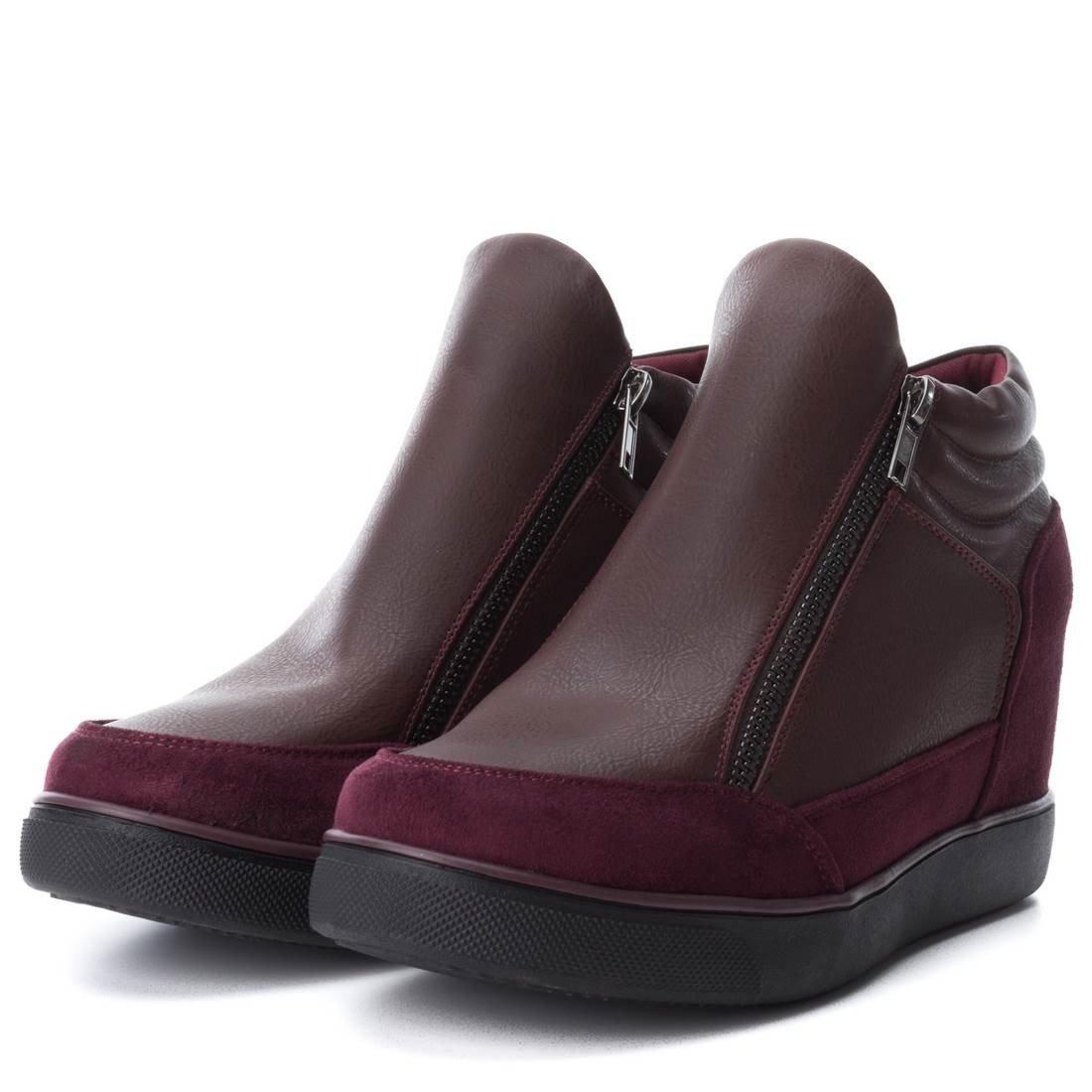 Xti 047439 Botín De Mujer 047439 Sintético Mujer Burdeos 41: Amazon.es: Zapatos y complementos