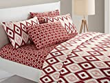 Chic Home 6 Piece Arundel Ikat Diamond and Contemporary Geometric Pattern Print Technique King Sheet Set Brick