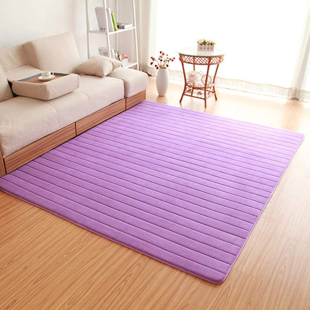 Mbd Thick Floor Mat Living Room Coffee Table Corridor Carpet Cute Tatami Balcony Mat Custom Color : Purple, Size : 100800cm