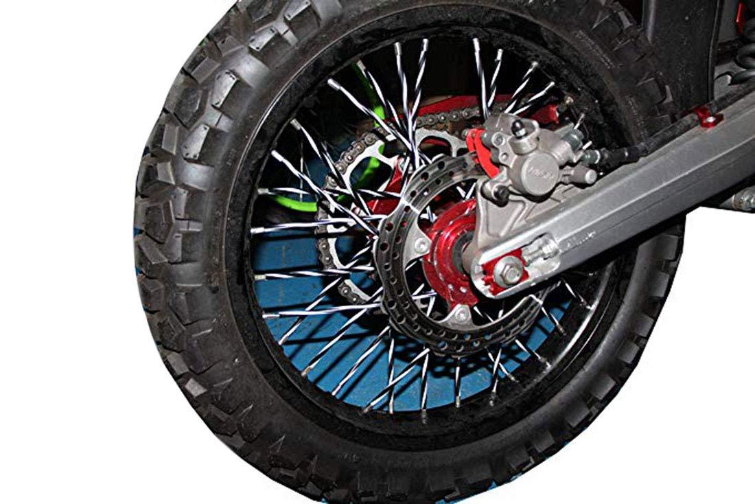 Bianco Arancio DIXIUZA 72Pcs Copri Raggi per Moto e Bici per la Decorazione Spoke Skins Protettivo Wraps