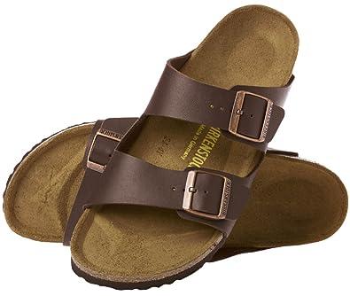 birkenstock arizona dark brown natural oiled leather sandals unisex