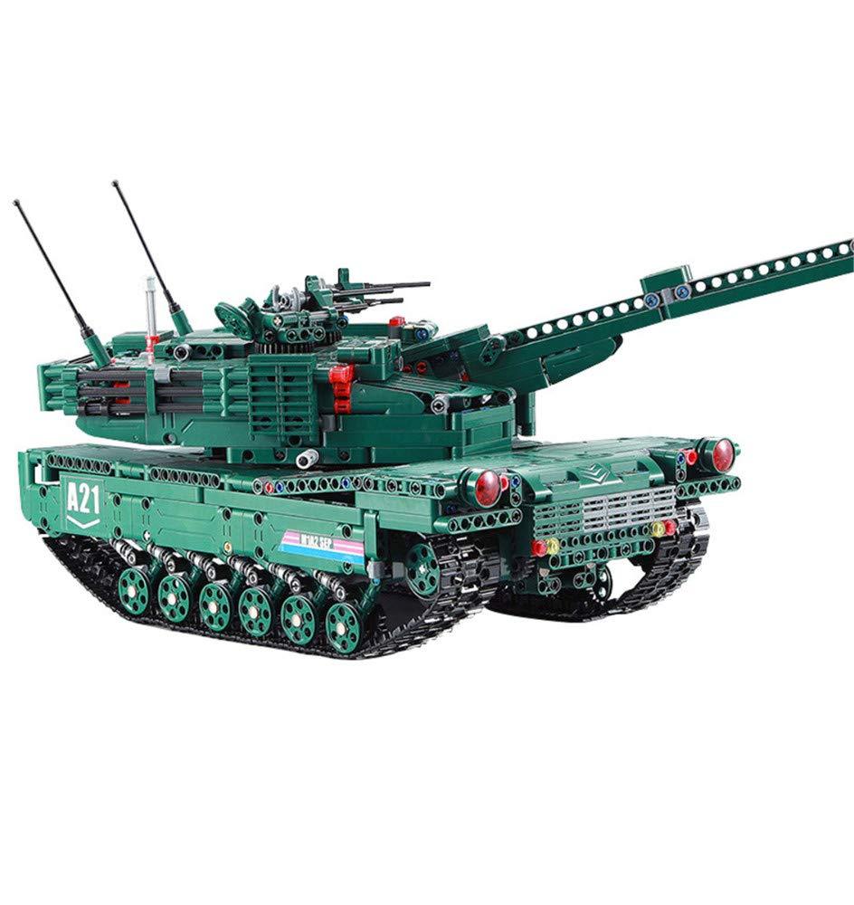 HHXWU Spielzeug Kinderspielzeug Modellreihe Militär Panzer Bausteine Spielzeug Montage Block Panzer, 61001