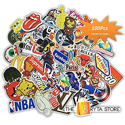 100 premium stickers decals vinyls pack of the best selling cool sticker perfect to graffiti your laptop macbook skateboard luggage car bumper