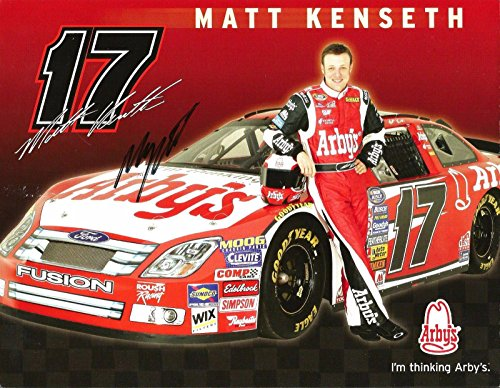 2007 Matt Kenseth DEWALT ARBY'S NASCAR RACING Signed Auto 8.5x11 Postcard - Cut ()