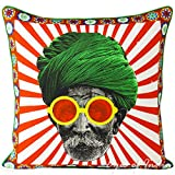 Eyes of India - 18'' Colorful Turban Decorative Sofa Couch Pillow Cushion Throw Cover Indian Bohemian BohoCover Only
