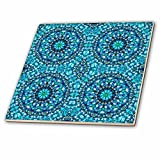 3dRose Blue Abstract Digital Art - Ceramic Tile, 12-Inch (ct_11608_4)
