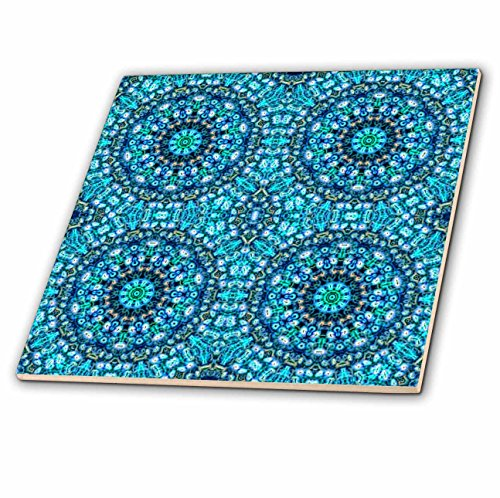 3dRose Blue Abstract Digital Art - Ceramic Tile, 12-Inch (ct_11608_4) by 3dRose