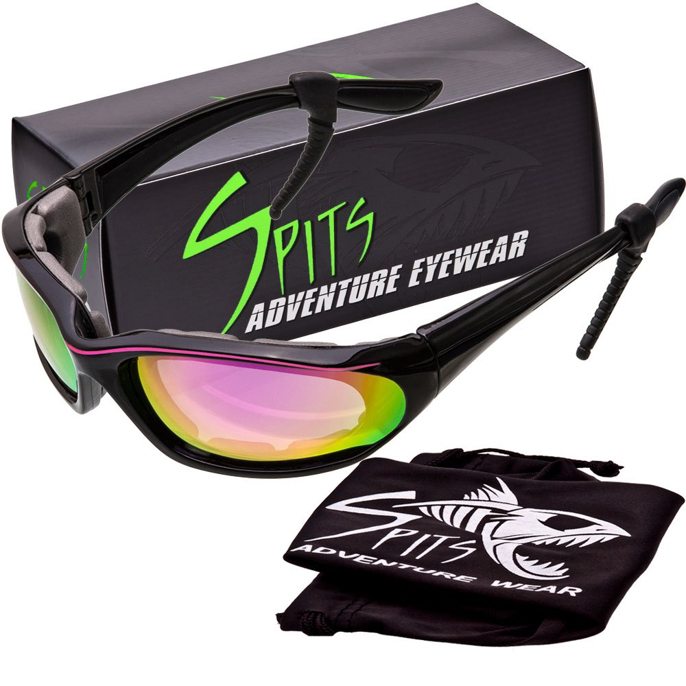 Kickstand II Foam Padded Sunglasses - Small Black/Pink Frame - Grey G-Tech Red Coated Lenses