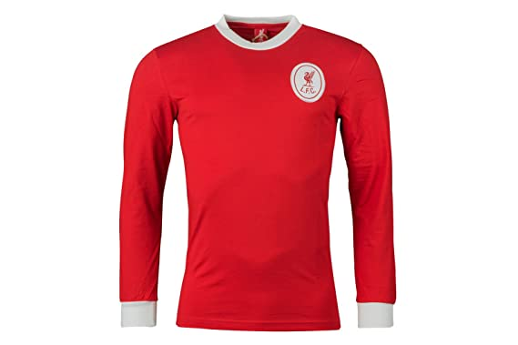 5d443211a Liverpool 1964 Home L/S Retro Football Shirt - Red/White: Amazon.co ...