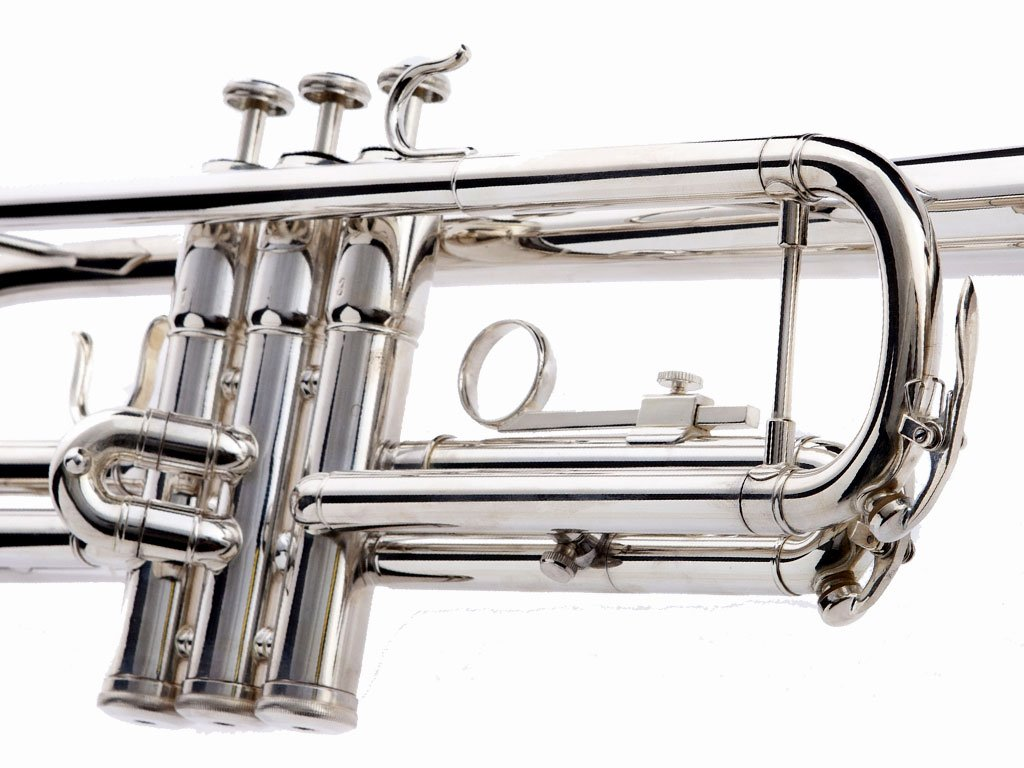 Hawk WD-T313 Bb Trumpet with Case and Mouthpiece, Silver Plated by Hawk (Image #3)