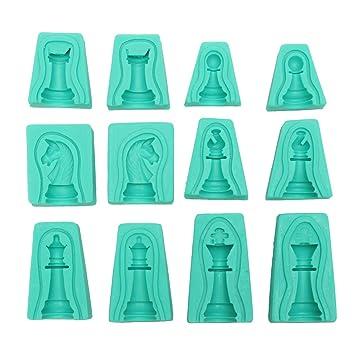 SGerste - Juego de 6 moldes de Silicona 3D para Fondant de Tartas y Dulces, jabón: Amazon.es: Hogar