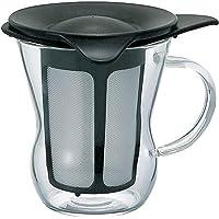 Copo de Vidro com Infusor de Chá HARIO Preto 200 ml