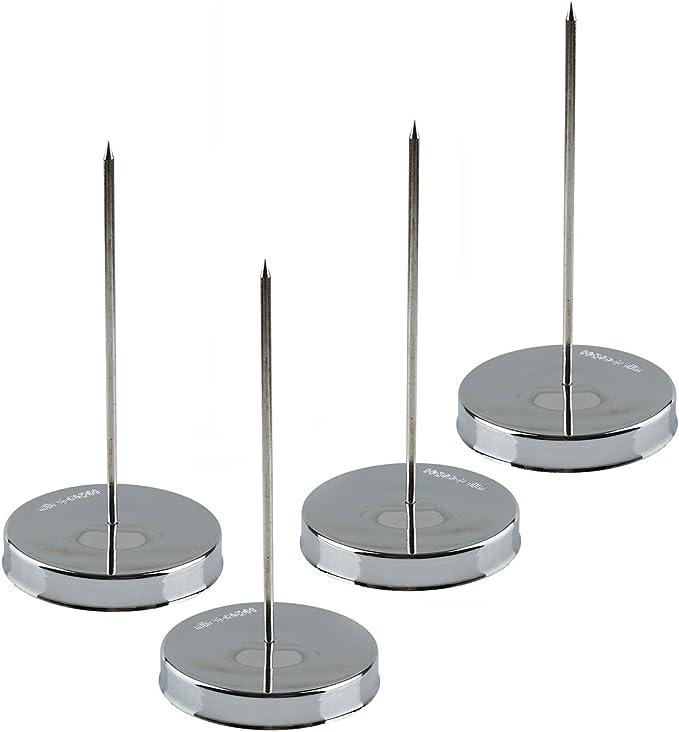 Silver Long Rod Memo Holder Spike Stick Bill Fork for Receipt Office JI