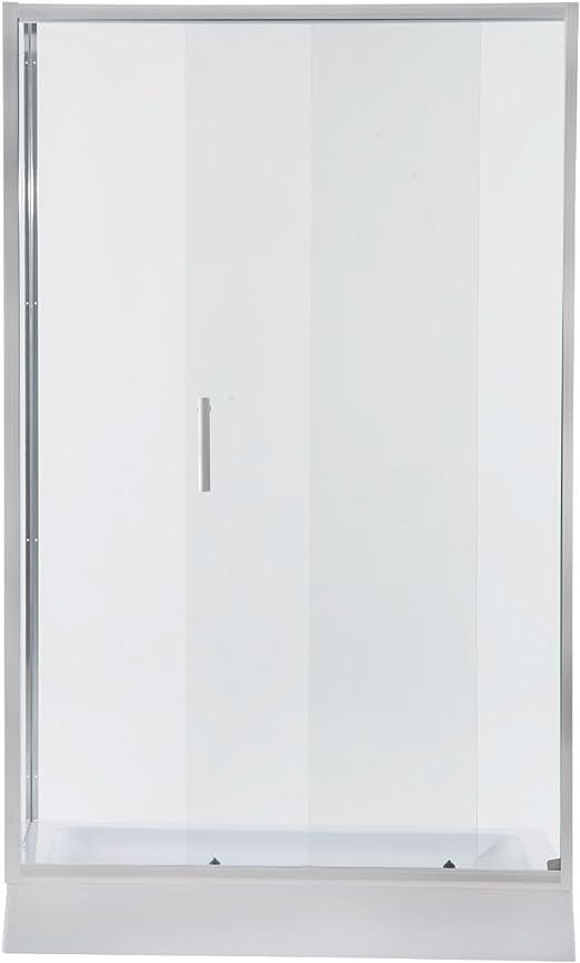Homcom – Puerta corredera de cristal para puerta de ducha recinto ...