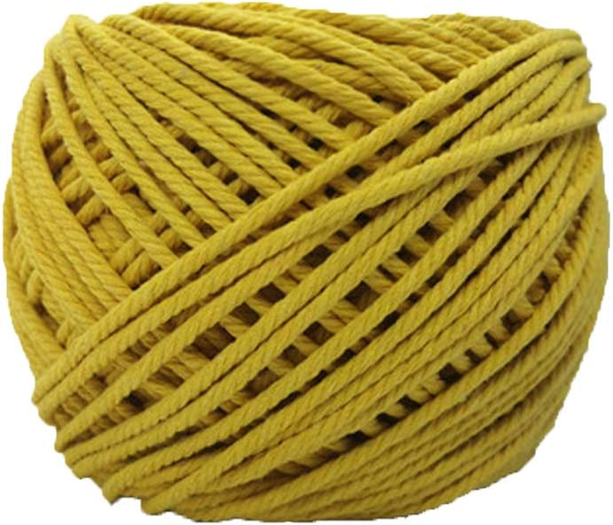 Navy Blue Cotton Macrame Cord Rope Cord for Crocheting Decorative Twisted Cord Hand Knit Yarn Decor Craft DIY Cord Durable Rope Knitting Materials 4mm//100meters