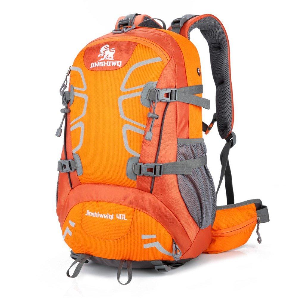 Borsa da alpinismo esterna impermeabile unisex resistente all'usura per campeggio,arancia